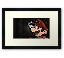 Happy Mario Framed Print