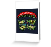 Glued Down Ninja Turtles  Greeting Card