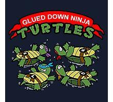 Glued Down Ninja Turtles  Photographic Print