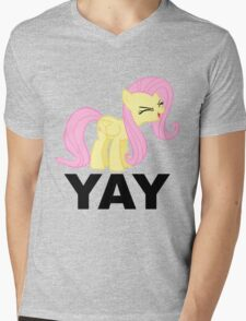 'Yay'-fluttershy decal Mens V-Neck T-Shirt