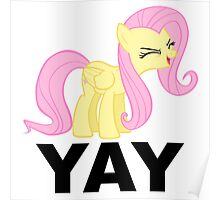 'Yay'-fluttershy decal Poster