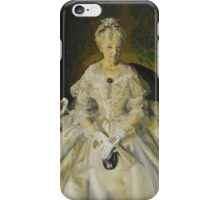 GEORGE WESLEY BELLOWS, (- ), MRS. T. IN CREAM SILK, NO.2 iPhone Case/Skin