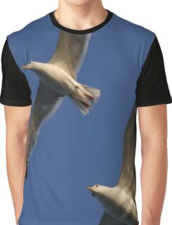 Seagulls In Flight Graphic T-Shirt
