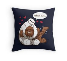 Hariest Baby Throw Pillow