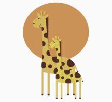 Giraffe Walk Kids Tee