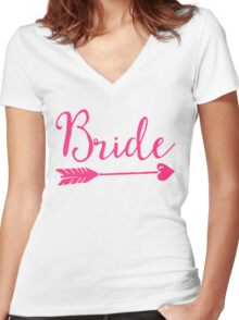 Bride Wedding Quote Women's Fitted V-Neck T-Shirt