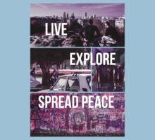 Live, Explore, Spread peace Kids Tee