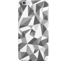 Repeat Angular Pattern - 'Low Poly' - Greyscale iPhone Case/Skin
