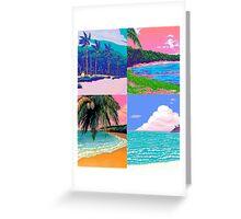 Pixel art Vaporwave Aesthetics Greeting Card