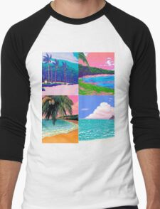Pixel art Vaporwave Aesthetics Men's Baseball ¾ T-Shirt