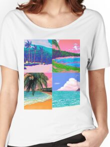 Pixel art Vaporwave Aesthetics Women's Relaxed Fit T-Shirt