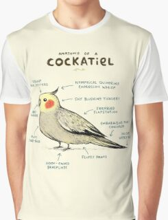 Anatomy of a Cockatiel Graphic T-Shirt