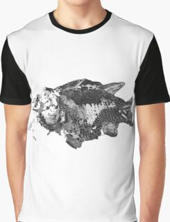 Prehistoric Fossil Fish Graphic T-Shirt