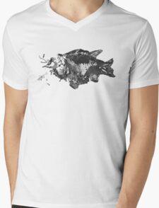 Prehistoric Fossil Fish Mens V-Neck T-Shirt