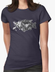 Prehistoric Fossil Fish Womens Fitted T-Shirt