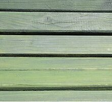 Stripes green wood texture of bench by juras