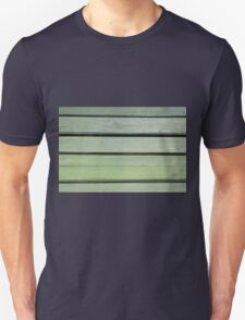 Stripes green wood texture of bench T-Shirt