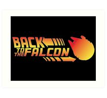 Back to the falcon Art Print