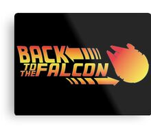 Back to the falcon Metal Print