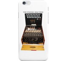 Secrets,  codes,  and the enigma machine  iPhone Case/Skin