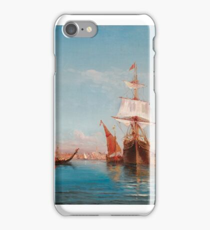 HENRY MALFROY; SAILING BOAT ON THE BOSPHORUS; SIGNED LOWER LEFT; OIL ON CANVAS. iPhone Case/Skin