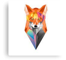 colorful geometric fox Canvas Print