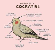 Anatomy of a Cockatiel One Piece - Short Sleeve
