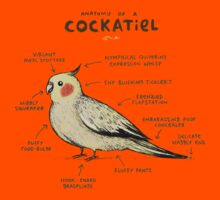 Anatomy of a Cockatiel Kids Tee