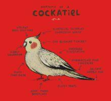 Anatomy of a Cockatiel Baby Tee