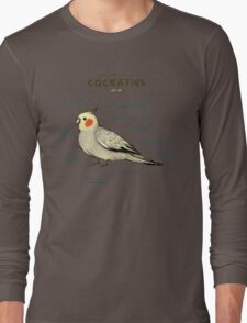 Anatomy of a Cockatiel Long Sleeve T-Shirt