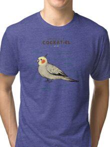 Anatomy of a Cockatiel Tri-blend T-Shirt