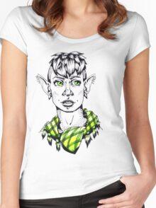 Modern Punk Elf Women's Fitted Scoop T-Shirt
