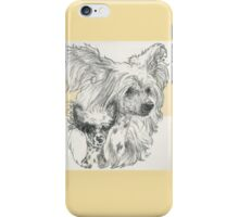 Chinese Crested, Father & Son iPhone Case/Skin