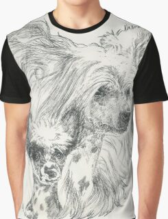 Chinese Crested, Father & Son Graphic T-Shirt