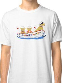Nautical Preppy Dogs - Golden Retrievers Classic T-Shirt