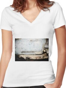 Lambretta Women's Fitted V-Neck T-Shirt