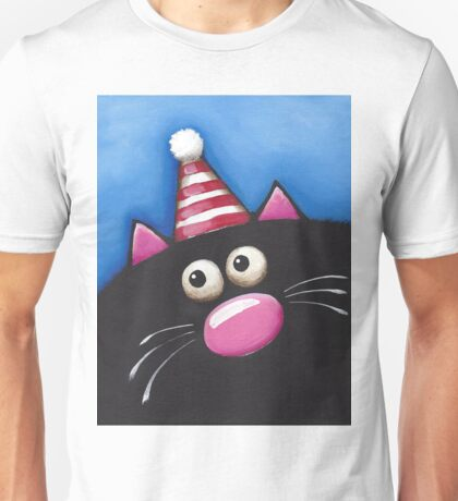 Cat in a party hat Unisex T-Shirt