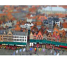 Markt Bruges-Tiltshift Photographic Print