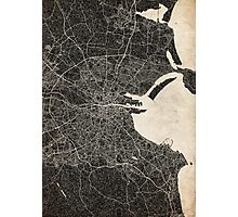 dublin map ink lines 2 Photographic Print