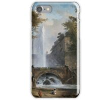 Hubert Robert - -, Stair and Fountain in the Park of a Roman Villa,  iPhone Case/Skin