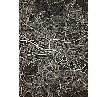 Glasgow map ink lines 2 Photographic Print