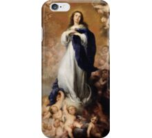 Immaculate Conception of Soult - Bartolome Esteban Murillo.  iPhone Case/Skin