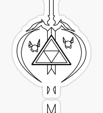 Master Sword Zelda Navi Tael Link Triforce Sticker