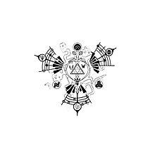 Majora's Mask Zelda Symbols Mashup Triforce Photographic Print