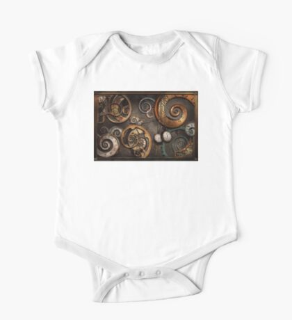 Steampunk - Abstract - Time is complicated One Piece - Short Sleeve