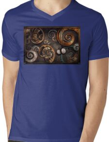 Steampunk - Abstract - Time is complicated Mens V-Neck T-Shirt