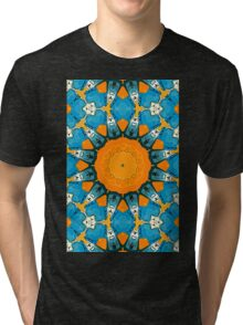 Orange And Blue Abstract Tri-blend T-Shirt