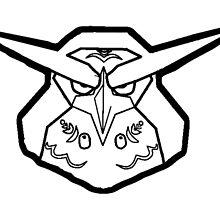 Kaepora Gaebora Zelda Owl Sticker Minimal by Yophio