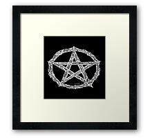Wicca Pentacle Black Framed Print
