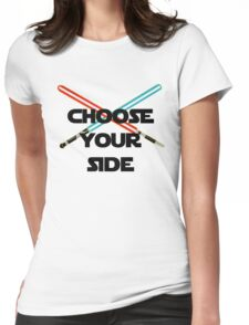 Choose A Side Womens Fitted T-Shirt
